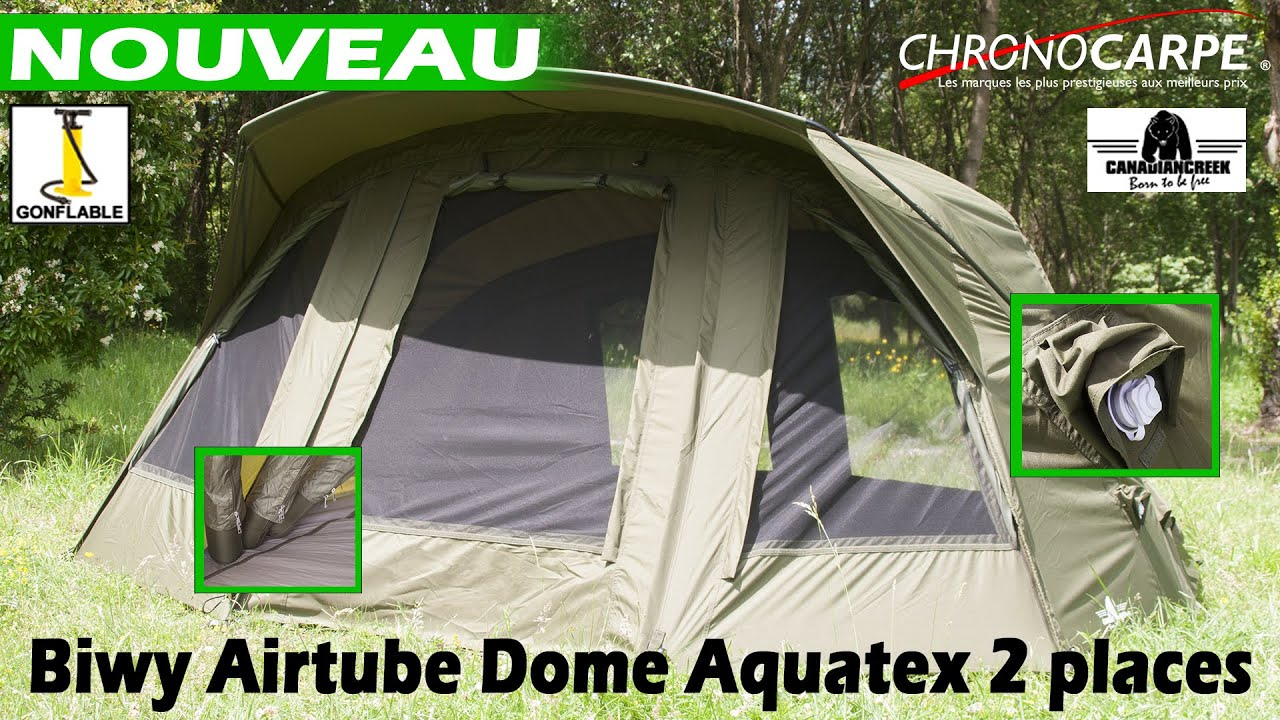 nouveau biwy gonflable canadian creek aquatex 2 places youtube. Black Bedroom Furniture Sets. Home Design Ideas