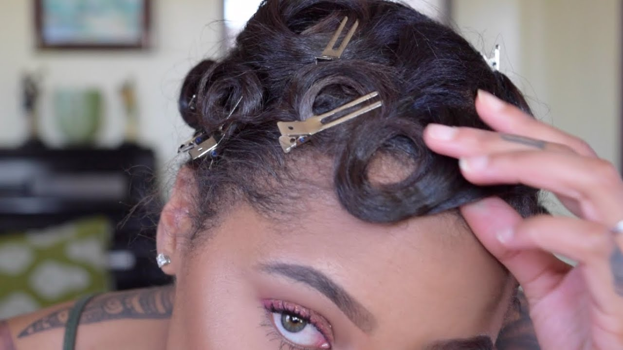 how to pin curl & style short hair