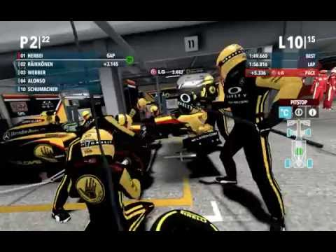 F1 2012 - Slippery Singapore