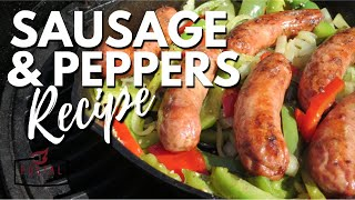 Sausage and Peppers - How to Make Sausage and Peppers On The Grill Recipe