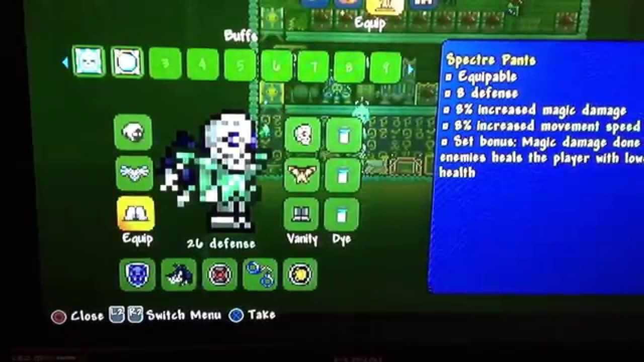 Mage Loadout Terraria Ps3 Xbox 360 Pc Ps4 Xbox1 Youtube