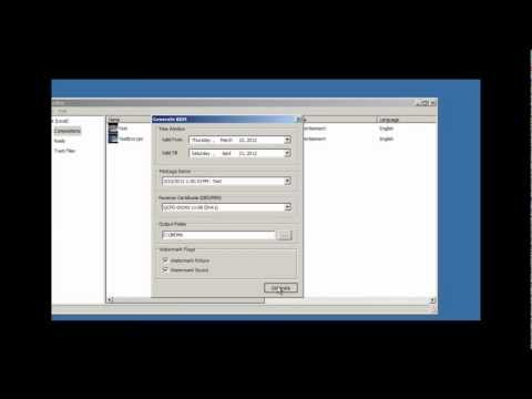 Steps to create a Digital Cinema Package from a sequence of DPX files
