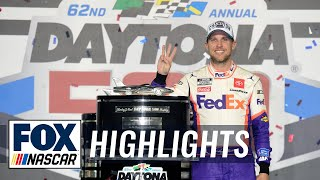 Denny Hamlin wins Daytona 500 amid scary crash on final lap | NASCAR ON FOX HIGHLIGHTS