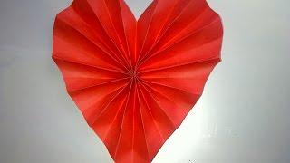 Valentinstag oder Muttertag Geschenk basteln. Papierherz. Tolle und einfache Geschenkidee