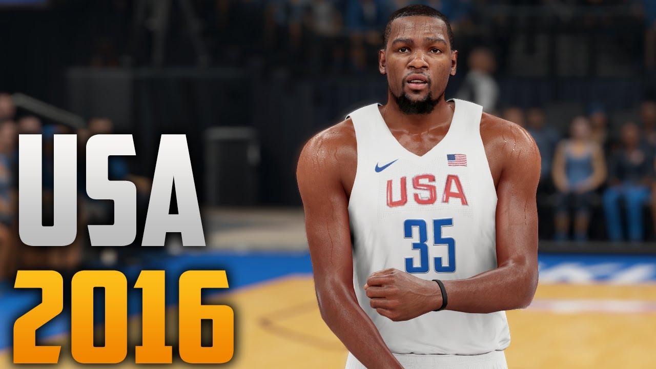 e11f0a18689 NBA 2K16 2016 Olympic USA Jersey Tutorial (Version 1) - YouTube