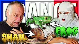ANOMALY AND PAPA EAT SNAILS AND FROGS (FRENCH FOOD)