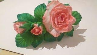 DIY / Роза из ткани /