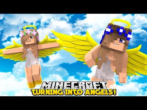 Little Kelly & Little Carly TURN  INTO ANGELS!!! - Minecraft Little Club Adventures