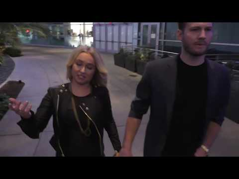 Hayden Panettiere and Brian Hickerson talk about the movie they saw Sharkwater Extinction outside th