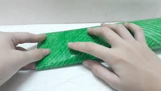 Cách làm squishy giấy 3d bánh tét siêu dê_Ngọc Thủy Channel