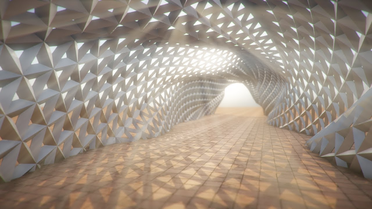 Parametric Walkway Flythrough Youtube