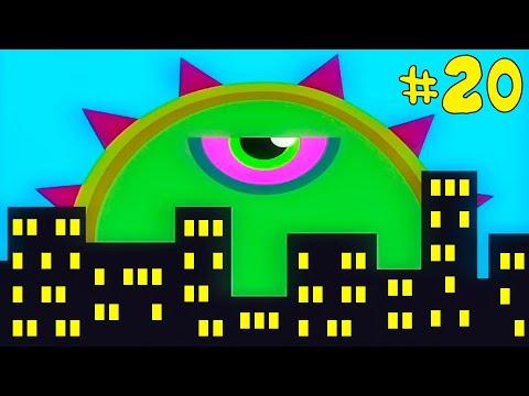Лизун СЛИЗНЯК захватывает мир #20. Глазастик съел всех в ГОРОДЕ. Игра Mutant Blobs Attack