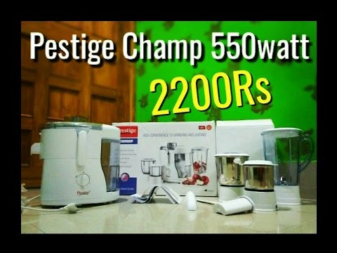 2f5135b09 Prestige Champ 550watt Juicer mixer Grinder Under 2500rs - YouTube
