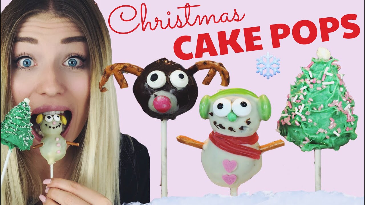 How To Make Christmas Cake Pops Youtube