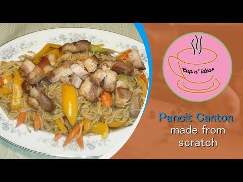 Pancit canton made from scratch