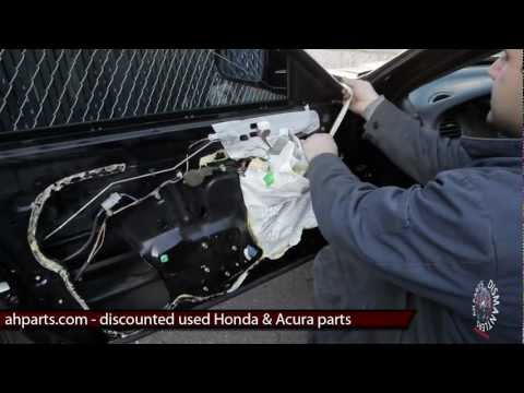 How to fix install replace window regulator motor DIY 99 00 01 02 03 Acura TL Replacement Tutorial
