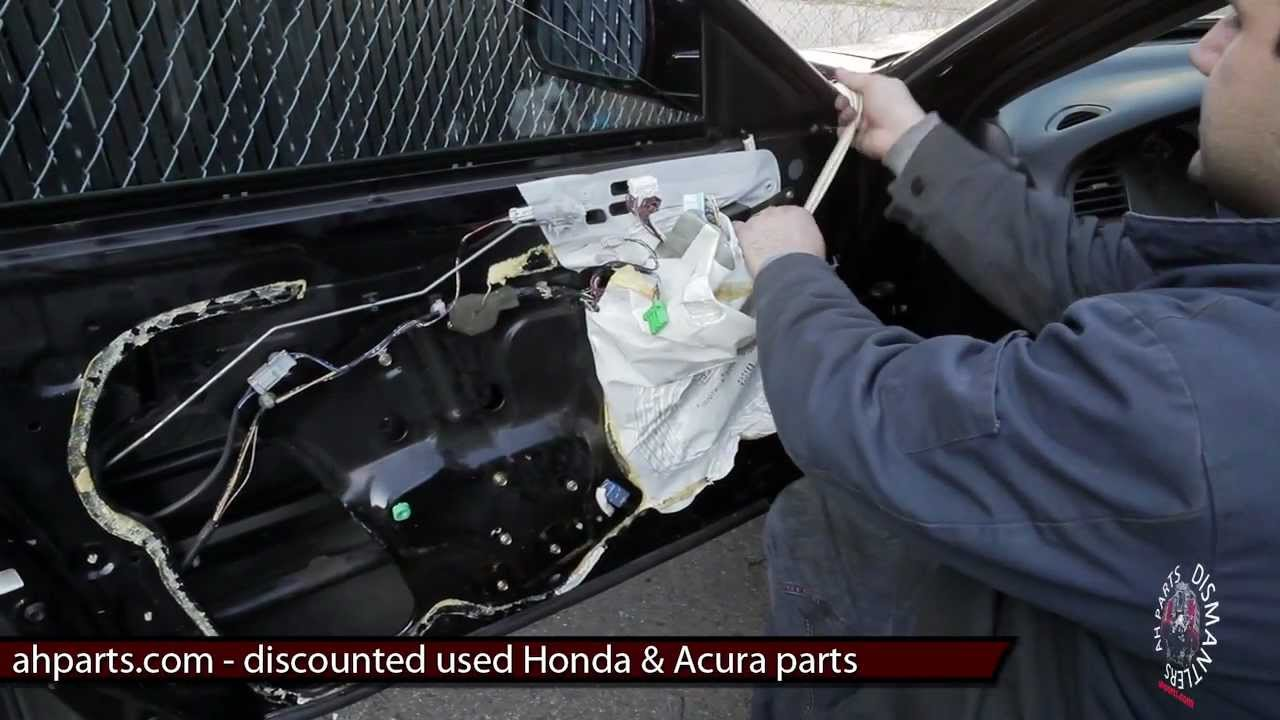 How To Fix Install Replace Window Regulator Motor DIY - Acura rl 2002 parts
