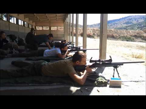 IDF shooting range with M24 sniper rifle