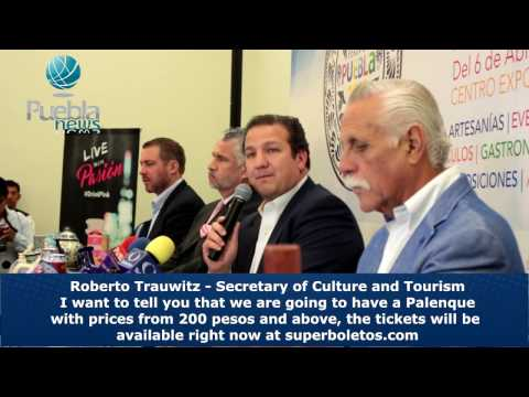Secretary of Culture and Tourism Roberto Trauwitz presents the Billboard of Palenque 2017