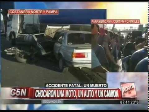 C5N - TRANSITO: ACCIDENTE FATAL EN COSTANERA NORTE