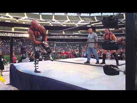 Goldberg returns and spears Scott Steiner (Legends of Wrestling) 2015