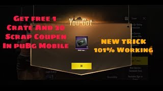 Get free Classic Crate and 20 Scrap Coupen In PuBg Mobile New VPN Trick|| 101% working Trick