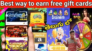 Scratch and earn free Amazon gift cards | Playing games earn money telugu | Earn Paypal gift cards