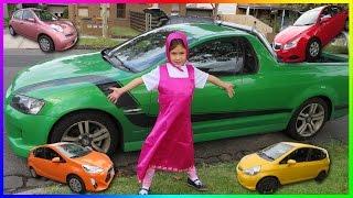 Lernen Sie Farben Mit Silikon Baby & Masha Mit Autos Für Kinder, Kinder Lernen Video
