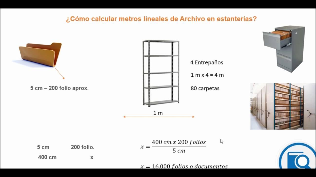 C mo calcular metros lineales o documentos de archivo - Como sacar los metros cuadrados de una habitacion ...
