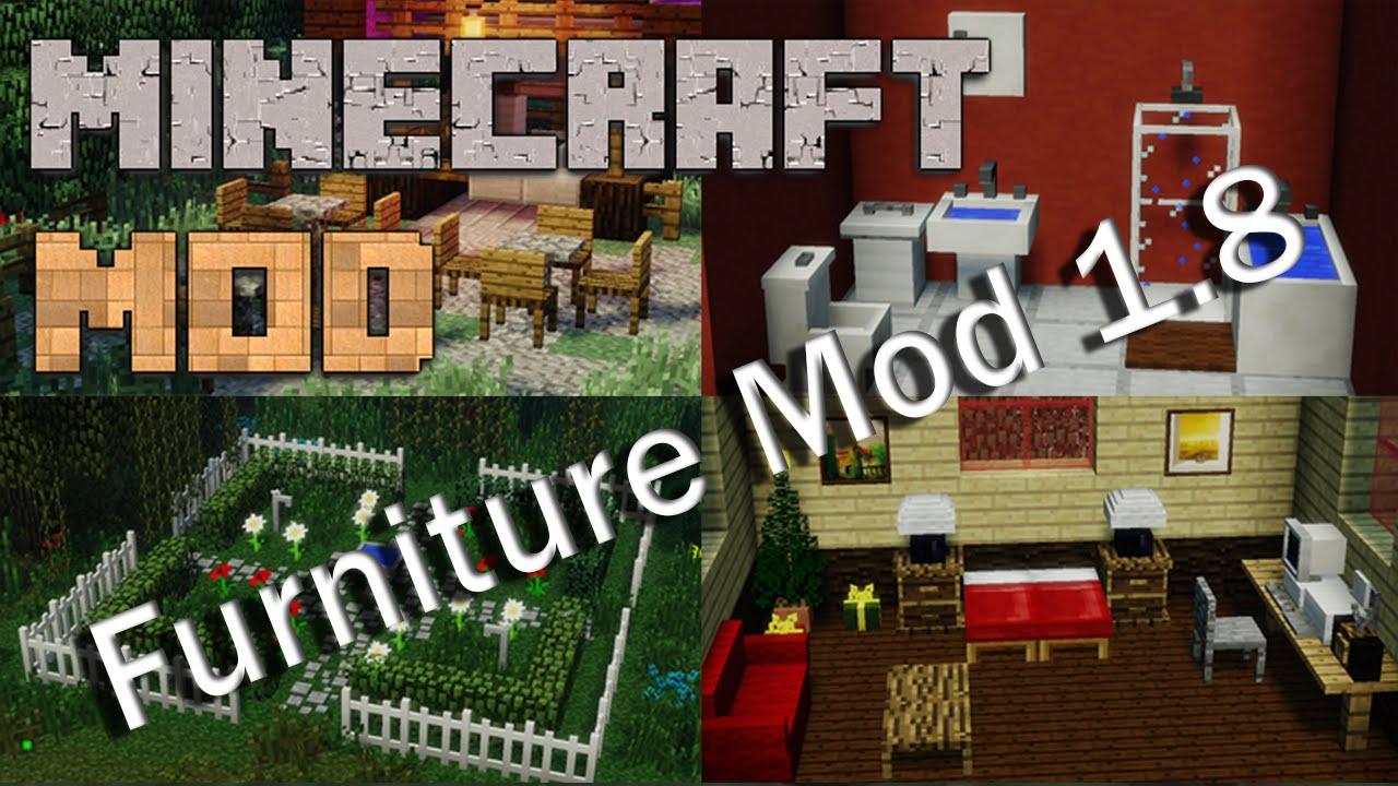 Minecraft mods 1 8 mr crayfish 39 s furniture mod update for Furniture mod