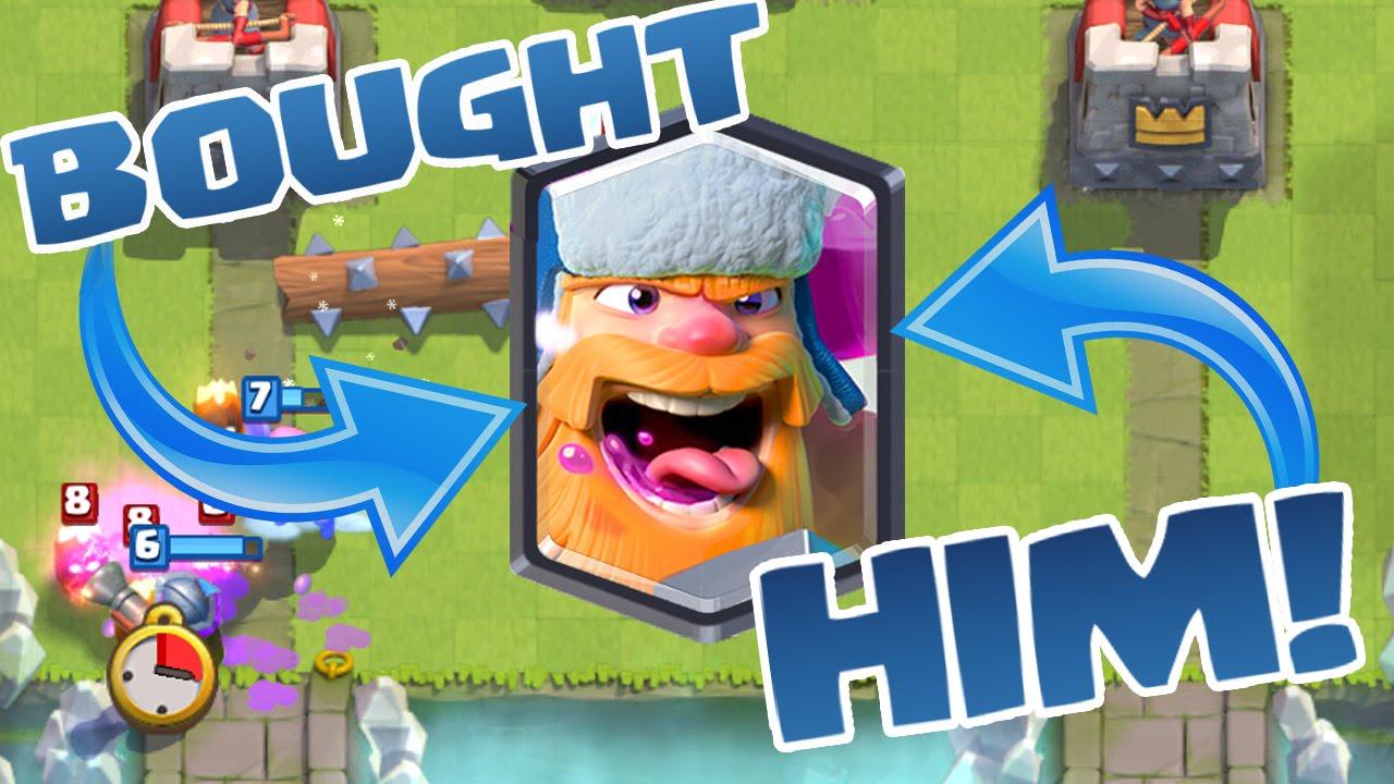 Clash Royale Buying The Lumberjack New Hog Miner