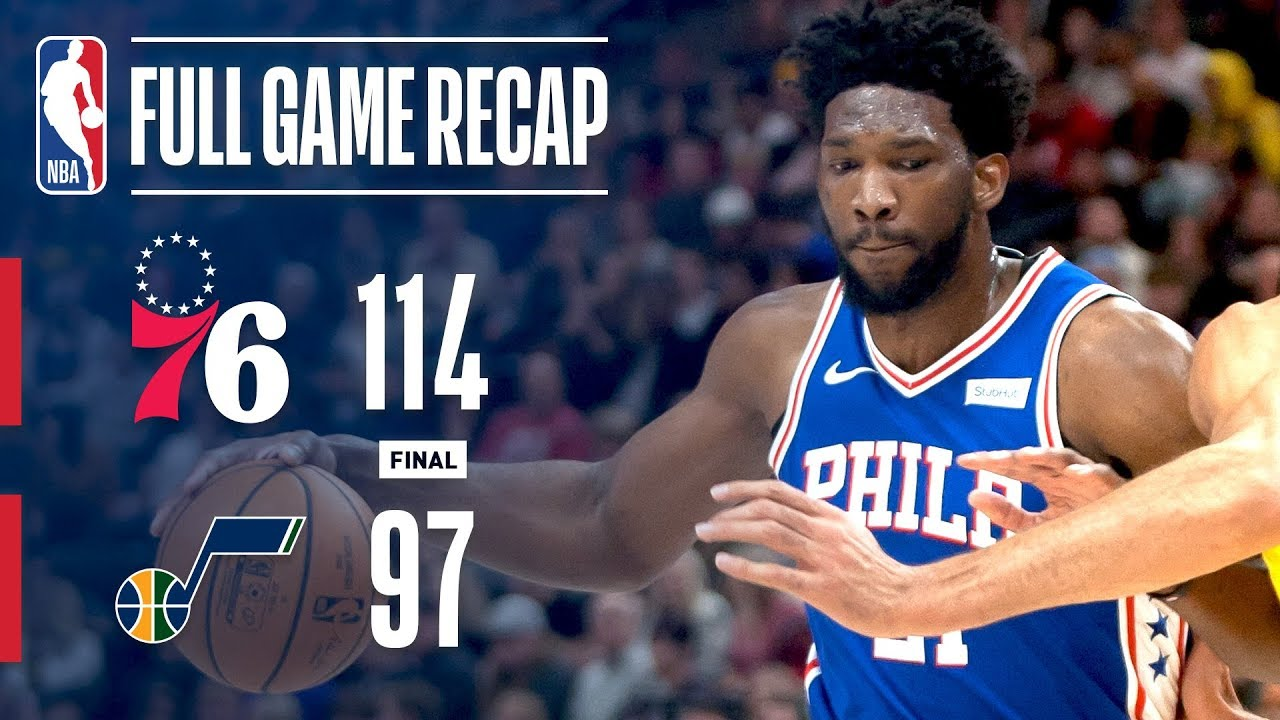 Full Game Recap 76ers Vs Jazz Sixers Top Jazz In Utah