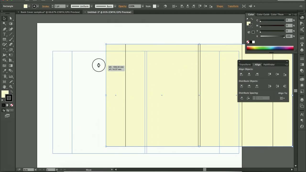 Book color illustrator - Setup Book Cover On Illustrator