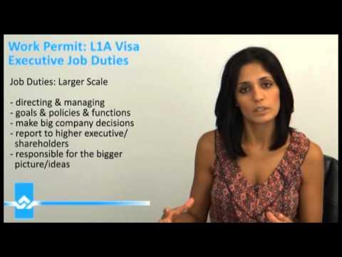 L1A Visa Executive Job Duties