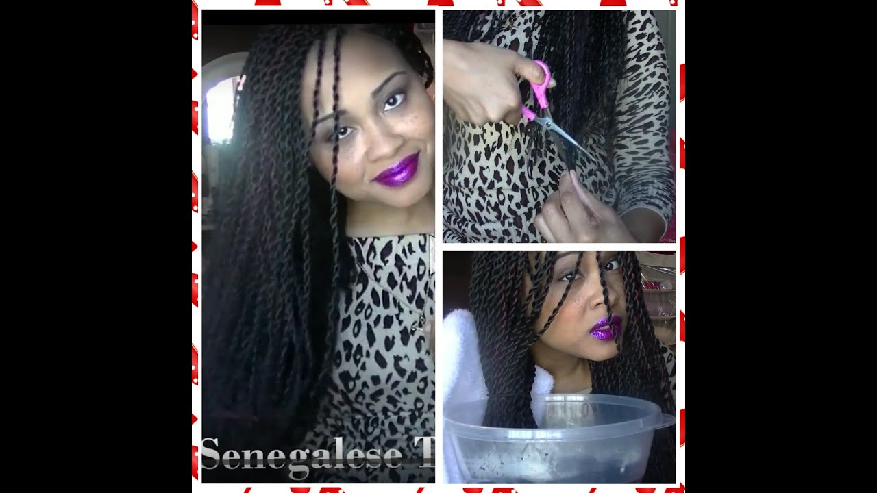 DIY How To Cut and Seal Your Senegalese Twist  Box Braids