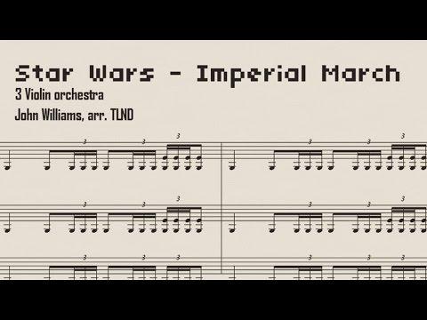 Imperial March Sheet Music Violin Trio Version