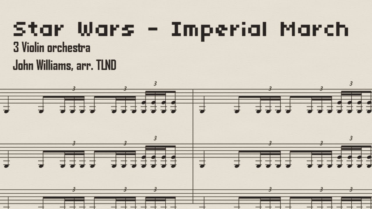 Imperial March Sheet Music Violin Trio Version
