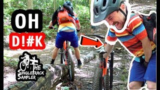 THIS IS WHY I DON'T RIDE WET WOODEN FEATURES // The Singletrack Sampler