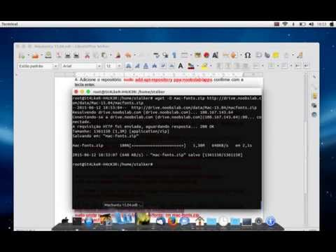 Transformando o Ubuntu 15.04 em Mac Osx Yosemite 10.10
