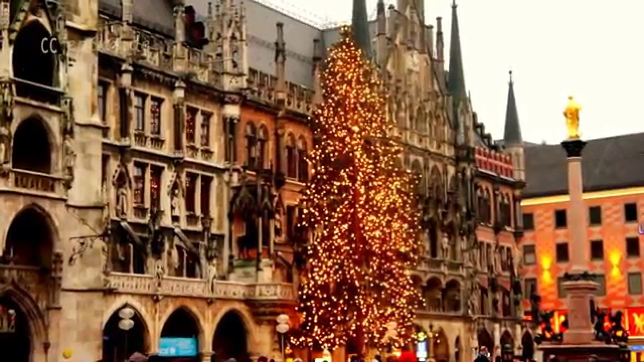 large christmas tree in munich youtube - Large Christmas Tree