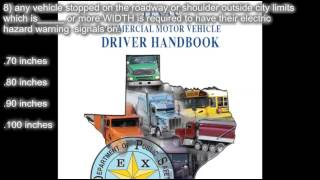texas cdl handbook section 14 special requirements practice test