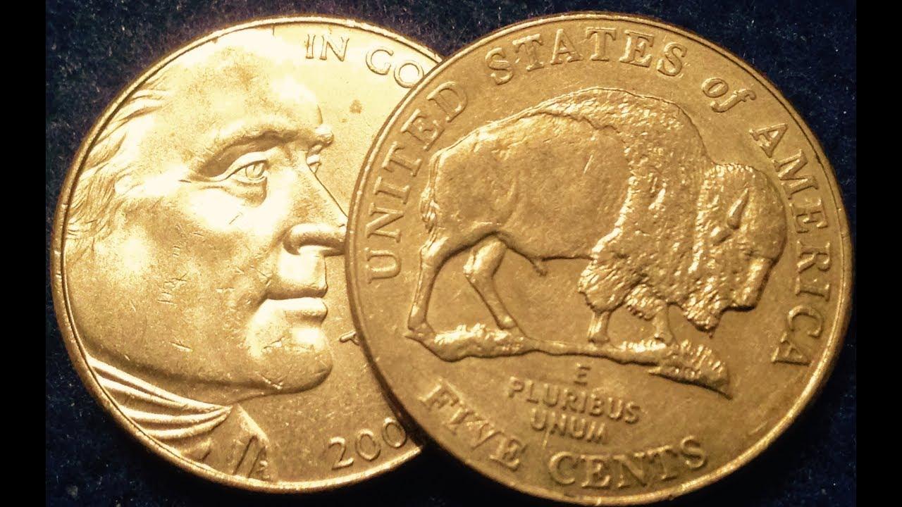 2005d Speared Bison Nickel Rare & Valuable Modern Error