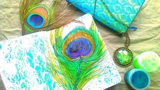 DIY Перо павлина!Личный Дневник, Блокнот.Оформление Разворота.(Я обожаю перья павлина и мне очень захотелось нарисовать такое в своем дневнике,надеюсь для вас это стало..., 2016-03-16T11:00:31.000Z)