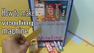 ✔👍How to make Vending machine || school model || school activities | own candy machine made at home