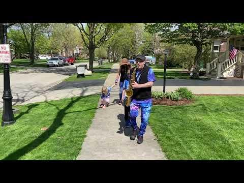 Jim Vonesh, Riverside sax walk