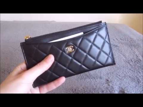 1d811257b46f Chanel (New Style) Wallet / Card Holder Review - YouTube