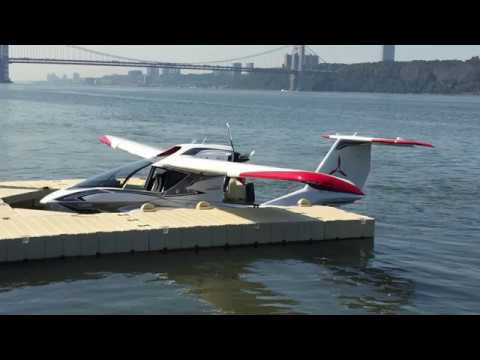 Icon A5 Light Sport Aircraft - Unedited Video - New York City