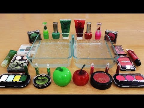 Mixing Makeup Eyeshadow Into Slime ! Red vs Green Special Series Part 3 ! Satisfying Slime Video