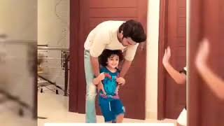 Shehzad Sheikh is Playing with His Son