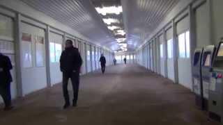 Надземный пешеходный переход в Обухово, СПб, метро и железно дорожная станция с электричками, выход